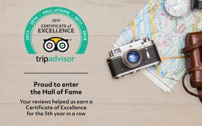 Vine Inn Enters The Trip Advisor Hall of Fame